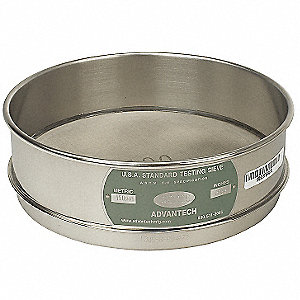 Sieve, #140, S/S, 8 In, Full Ht