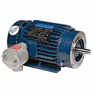 10 HP Hazardous Location Motor,3-Phase,1765 Nameplate RPM,575 Voltage,Frame 215TC