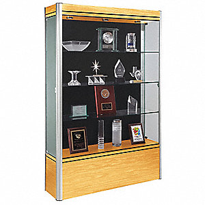 Display Case,72x48x14,Light Maple