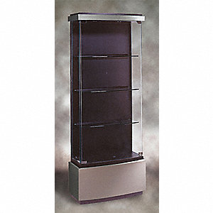 Display Case,73x29x12,Brushed Silver