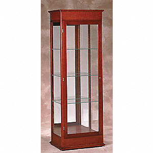 Display Case,77x25x18,Cherry