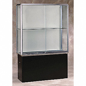 Display Case,72x48x18,Chrome