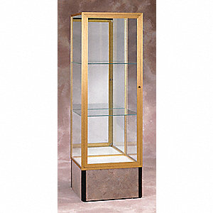 Display Case, 72x24x24, Champagne Gold
