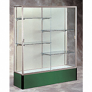 Display Case, 72x48x16, Forest Green