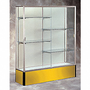 Display Case,72x48x16,Goldenrod