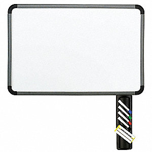 "Gloss-Finish Melamine Dry Erase Board, Wall Mounted, 42""H x 66""W, White"