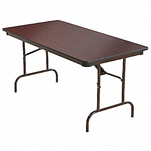 "Rectangle Folding Table, 29"" Height x 60"" Width, Mahogany"