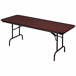 Folding Table,72 inx30 inx29 in,Mahogany
