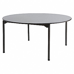 "Round Folding Table, 30"" Height, 60"" Diameter, Gray"
