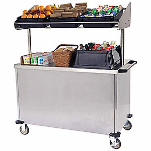 Breakfast Cart, Silver, Stainless Steel