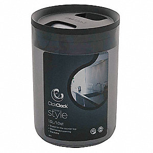 Rnd Storage Canister,1qt,Smoke/BlackPK4