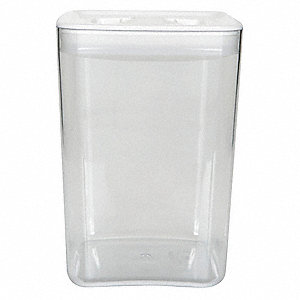 SqStorage Canister,4.5qt,Clear/White,PK4