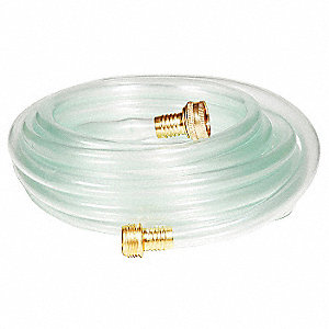 Drainage Hose, White/Clear, 25 ft.