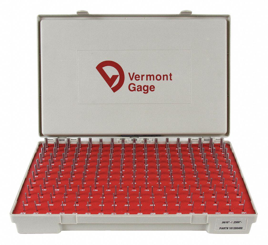 0.398 Gage Diameter Tolerance Class ZZ Vermont Gage Steel Go Plug Gage