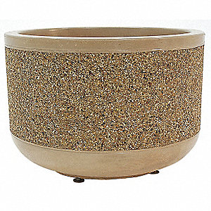 Planter,Round,36in.Lx36in.Wx24in.H