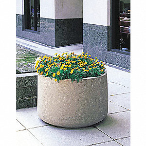 Planter,Round,48in.Lx48in.Wx36in.H