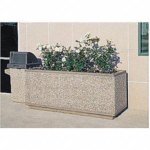 Planter,Rectangle,66in.Lx18in.Wx18in.H