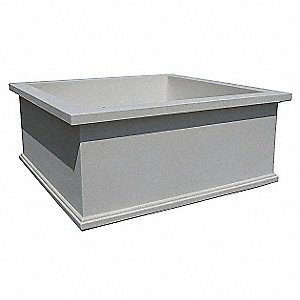 Planter,Square,72in.Lx72in.Wx30in.H