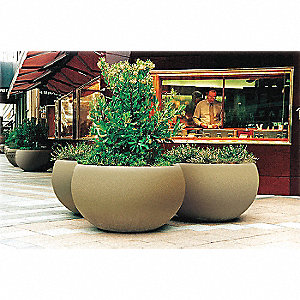 Planter,Round,24in.Lx24in.Wx36in.H