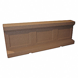 Barrier,Rectangle,48in.Lx24in.Wx35in.H