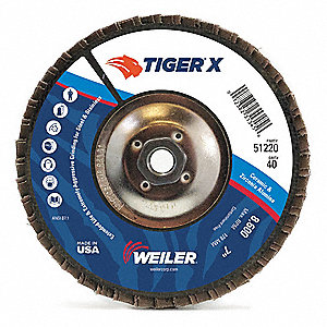 Flap Disc,7 in. x 40 Grit,5/8-11,