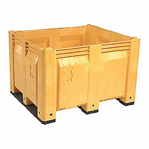 Bulk Container,Yellow,36-3/4in.W