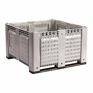 Bulk Container,Gray,44-3/4in.W