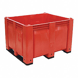 "Bulk Container, Red, 31""H x 48""L x 40""W, 1EA"
