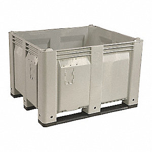 Bulk Container,Gray,25-3/4in.H,45in.L