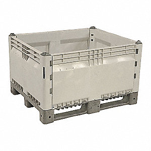 Bulk Container,Gray,36in.W