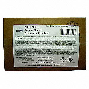 Gray Concrete Patcher, 10 lb. Box, Coverage: 4.5 sq. ft.