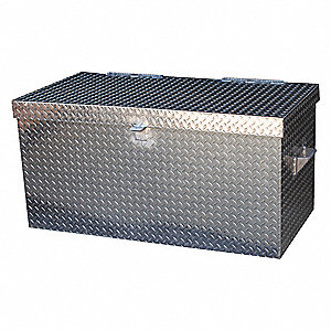 "24"" x 24"" x 36"" Jobsite Box, 14.0 cu. ft., Silver"