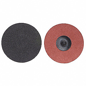 "2"" Quick Change Disc, Aluminum Oxide, TR, 80 Grit, Medium, Coated, PK100"