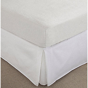 "Queen Non Woven Mattress Cover with 14"" to 18"" Pocket Size, White"