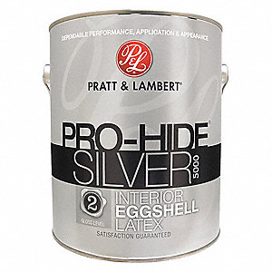 Eggshell Interior Paint, Latex, Agate Gray, 1 gal.
