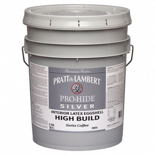 PRATT & LAMBERT Eggshell Interior High Build Paint, Latex, White, 5 gal - 41DR300000Z8910-20