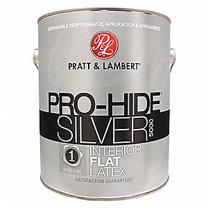 Flat Interior Paint, Latex, Super One Coat Int., 1 gal.