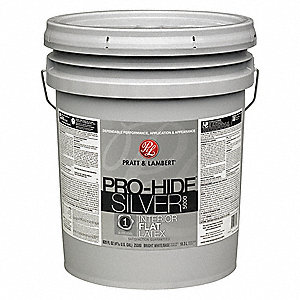 Interior Paint,Kodiak Grey,Flat,5 gal.