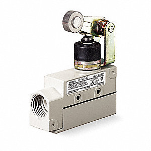 Enclosed Limit Switch, 480VAC/250VDC Voltage Rating, 15 Amps, Top Actuator Location