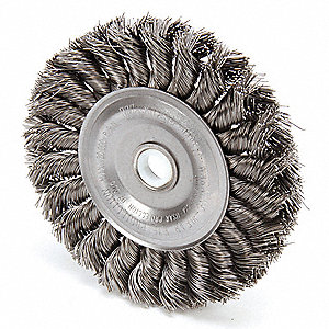 Twist Wire Wheel Brush,Arbor,4 In.
