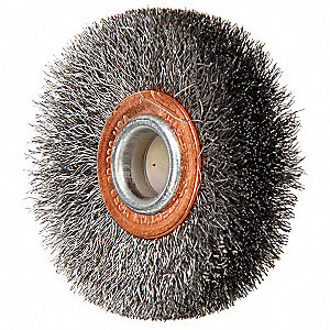 "Shank Wire Wheel Brush, Crimped Wire, 2"" Brush Dia."