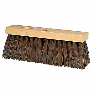 "Synthetic Push Broom, 16"" Sweep Face"