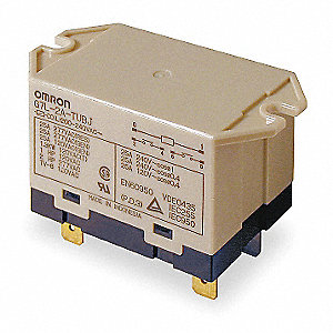 Enclosed Power Relay, 6 Pins, 200/240VAC Coil Volts, 25A @ 220VAC Contact Amp Rating (Resistive)