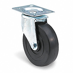"3"" Plate Caster, 125 lb. Load Rating"