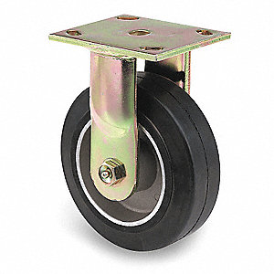 "5"" Light-Medium Duty Rigid Plate Caster, 350 lb. Load Rating"