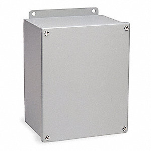 "Carbon Steel Junction Box Enclosure, 8.00"" Height, 8.00"" Width, 4.00"" Depth"