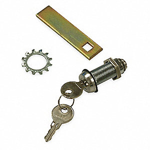 Key Lock Kit, Steel, For Use With: NEMA 4 and 12 Enclosures