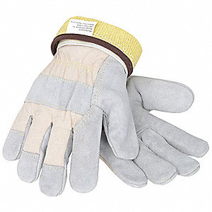 Cut Resistant Gloves, Cut Level 3, Leather Coating, Kevlar(R) Lining