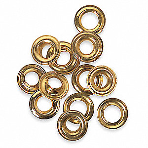 Grommets,3/8 In,For 3AB82,PK24