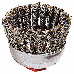 Knot Wire Cup Brush,Threaded Arbor